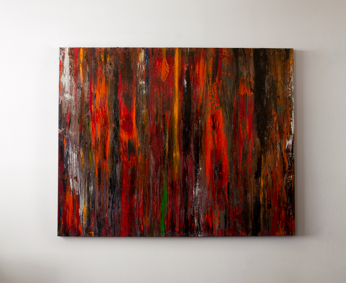 Painting titled Autumn